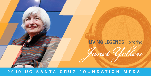 Image of Living Legends banner featuring Janet Yellen