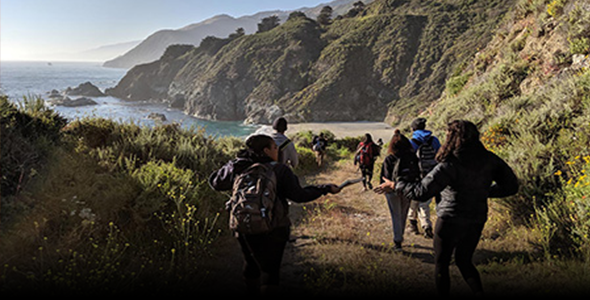 Students in the Doris Duke Conservation Scholars Program explored the natural history of Big Sur to develop conservation research projects as part of their training in field research and conservation leadership, credit Abe Borker