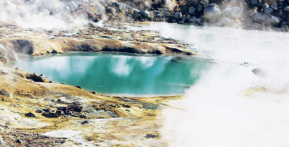 Hot springs, like those at Lassen Volcanic National Park's Bumpass Hell in California, provide conditions that may have supported life as it began on Earth. (Credit: Blake Smith, Science News))