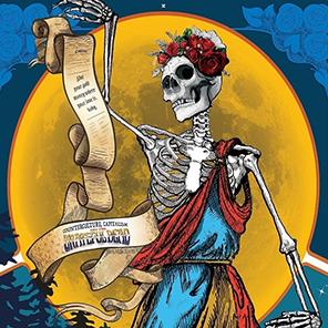 Skeleton illustration for Grateful Dead exhibit