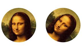 Images of Mona Lisa painting by Leonardo da Vinci