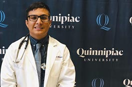 Erick Melara, second-year medical student at the Frank Netter School of Medicine at Quinnipiac University