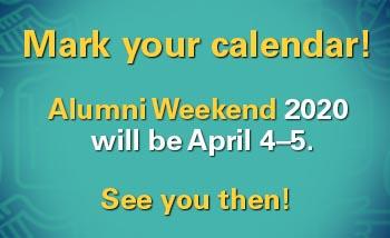 Alumni Weekend 2020 Date Announcement