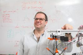 Mircea Teodorescu, associate professor of electrical and computer engineering, are combining the power of robotic suits with virtual-reality games.