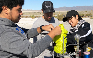 Pichardo was among the participants in a project developing methods to detect sulfur and selenium in the Salton Sea.